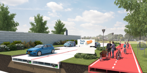 Contruction concept of the first plasticroad