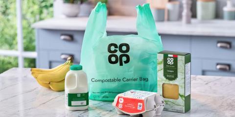 Co-Op Compostable Carrier Bag